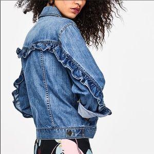 Who what wear Ruffle Denim Jacket